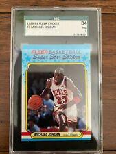 1988 Fleer Sticker Michael Jordan #7 SGC 7 NM - Centered