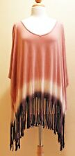 VINTAGE HAVANA $98 NWT OMBRE FRINGE PONCHO TOP SIZE M