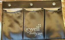 Jewell by Thirty One 31 Triple Slit pocket Charcoal Gray Organize Purse Snap NEW