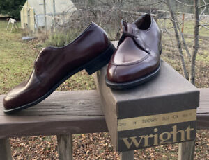 NIB Wright Arch Preserver Oxford Shoes 10.5 C Rich Brown  Goodyear Welt USA