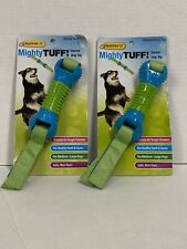 """(2) Westminster Pet Products Mighty Tough Dental Dog Toy """"ribbed Bone Tug"""" New"""