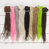 DreadLab - Short Double Ended Synthetic Dreadlocks (Pack of 10) Extensions 25 cm