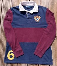 New listing RALPH LAUREN POLO RUGBY SHIRT LARGE AUTHENTIC MENS CUSTOM FIT VERY GOOD