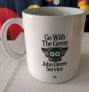 John Deere 1989 Coffee Mug Go With The Green Service Cup