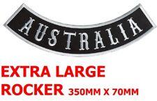 EMBROIDERED EXTRA LARGE BACK PATCH AUSTRALIA ROCKER HARLEY HONDA VEST HELMET DIY
