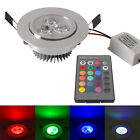5W RGB Color Change LED Recessed Ceiling Lamp Downlight Fixture Decor Lighting