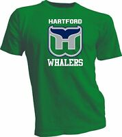 HARTFORD WHALERS DEFUNCT NHL OLD TIME HOCKEY Green T-SHIRT NEW Vintage Handmade