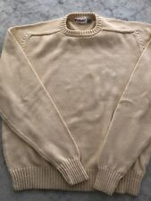 Vintage Parker Of Vienna Men's Cream Crew Neck Sweater Pullover Size Xl