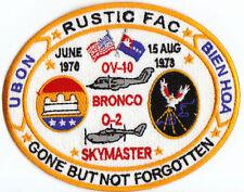 USAF PATCH, RUSTIC FAC, OV-10 BRONCO, O-2 SKYMASTER,  Y