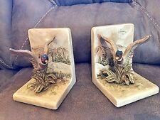 Vtg Otagiri Ceramic Handpainted Pheasant Bookends Made In Japan 1979
