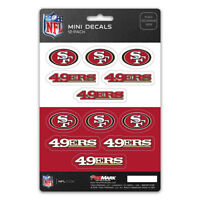 New NFL San Francisco 49ers Die-Cut Premium Vinyl Mini Decal / Sticker Pack