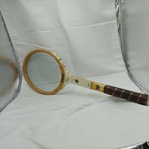 Vintage WILSON Chris Everett Stylist Tennis Racket Light 4 3/8 & Blue Cover