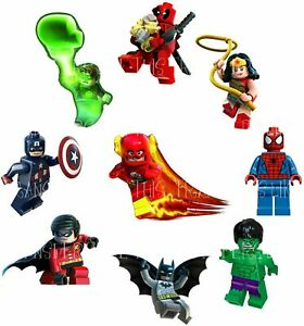 AVENGERS LEGO SUPERHEROES IRON WONDER MATTEL TRANSFERT TEXTILE VETEMENT IRON