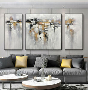 LL628 Pure hand-painted 3pcs/set abstract oil painting Modern decor art