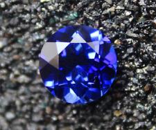 RICH BLUE TANZANITE UNHEATED 10.72CT VVS 12MM ROUND SHAPE CUT  LOOSE GEMSTONE