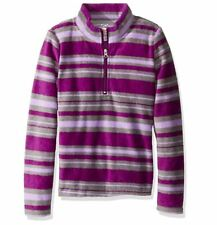 Dream Star - Girls' Micro Fleece Sweater - Purple Stripe - Little Girl's Small/4