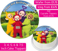 TELETUBBIES EDIBLE WAFER & ICING PERSONALISED CAKE TOPPERS DECORATION CHILDREN