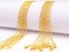 "10PCS Wholesale 20"" Jewelry 18K Gold Filled ""Water Wave"" Chain Necklace Pendants"
