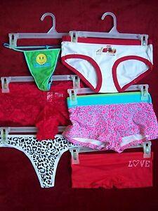 NEW NWT No Boundaries Juniors Boyshorts Bikini Thong Panties S M L FREE SHIP w 3