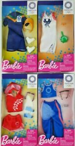 Barbie Complete Fashion Tokyo 2020 Olympic Games clothing Lot of 4 pieces