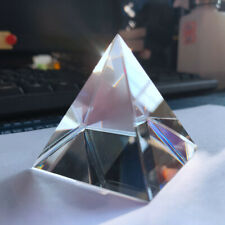Rainbow Optical Glass Crystal Pyramid Prism for Science Survey Light Spectrum