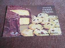 Nestle Cookbook Baking Desserts Cookies Sour Cream Velvet Frosting, Wonder Bars