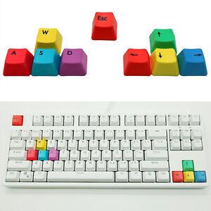 9 PCS DURABLE W/S/A/D/ MECHANICAL KEYBOARD ESC DIRECTIONAL KEYS KEYCAPS TALK