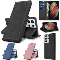 For Samsung Galaxy S21/Plus/Ultra Case Flip Leather Wallet Stand Card Slot Cover