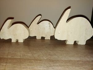 Fratelli Mannelli Travertine di Tivoli Set of 3 Rabbit Sculpture Italy