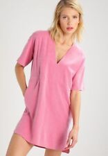 BNWT STORM & MARIE PINK WASHED SILK TUNIC DRESS SIZE UK L 14 US 10 RRP £105