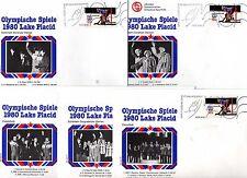 46 Belege Olympiade Lake Placid 1980  (  24984 )