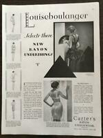ORIGINAL 1929 Carter's Rayon Underwear PRINT AD Louiseboulanger Paris Art Deco