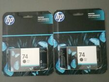 Original NEUE HP 74 schwarz Tintenpatrone 2-Pack EXP Dez 2017