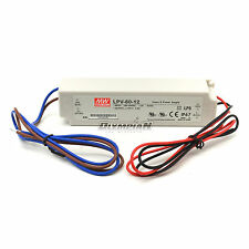 Meanwell Mean Well MW 12V 5A 60W LED Driver LPV-60-12 IP67 60 Watt Power Supply
