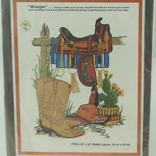 Paragon Stitchery Wrangler Crewel Kit Western Cowboy Boots Embroidery Patterns