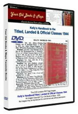 Kellys Handbook to the Titled Landed and Official Classes 1944 WW1 DVD