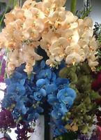 Orchideenzweig 106 cm XXL Seidenblumen Kunstblumen künstliche Orchidee wie echt