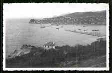 Zonguldak photo postcard Harbour Turkey 2 stamps 1951