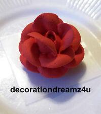 """10- 1 1/2"""" Sugar Royal Icing Edible Rose Flower Cake Cupcake Wedding Birthday"""