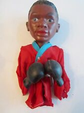 """VINTAGE CASSIUS CLAY (MUHAMMED ALI) BOXER TOY WITH GLOVES  - 10"""" TALL - TUB BB"""