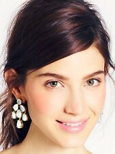 SPECTACULAR KATE SPADE CRYSTAL 14 kt GOLD BRIDAL CHANDELIER DROP EARRING WEDDING