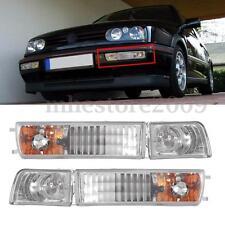 Pair Fog Lights & Turn Signals Light For Volkswagen VW MK3 Jetta/Golf 1992-1999