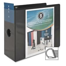 """Business Source D-Ring View Binder 5"""" Capacity 11x8-1/2"""" Black 28451"""