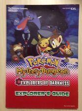 Nintendo DS le Pokemon Company donjon mystere explorateurs des ténèbres Guide Book