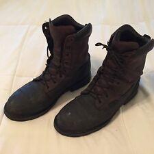 Men's Justin Work Tek Size 11 EE Steel Toe Boots Round Toe