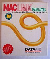 Mac Link Plus Translators PC File Exchange Floppy Disk Software + Manual Dataviz