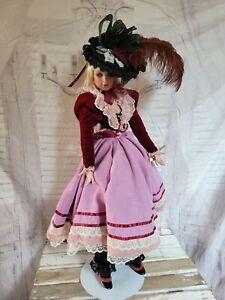 "Donna Rubert dominique Victorian 2002 porcelain doll large 24"" figurine"