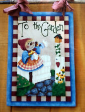 Kenna & Donna Designs 20170 To The Garden Wood Craft Kit 14 X 20 Girl Scarecrow