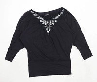 James Lakeland Womens Size 16 Black Top (Regular)