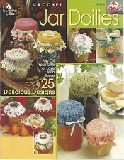 Jar Doilies Annie's Attic Crochet Instruction Patterns 25 designs 2003 NEW
